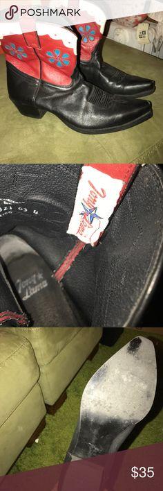 Zara Snakeskin Cowboy Boots