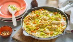 MAGGI Rezeptidee fuer Curryrahm-Ragout mit Fisch