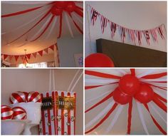 Circus Birthday Party Ideas - love the balloons and streamers to create the big top Circus Carnival Party, Carnival Birthday Parties, First Birthday Parties, Circus Theme, Birthday Ideas, Diy Carnival, Night Circus, Dumbo Birthday Party, Circus Birthday
