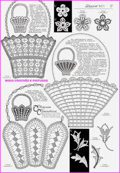 Lindas cestas de flores para aplicar em toalhas, panos de copa, etc...