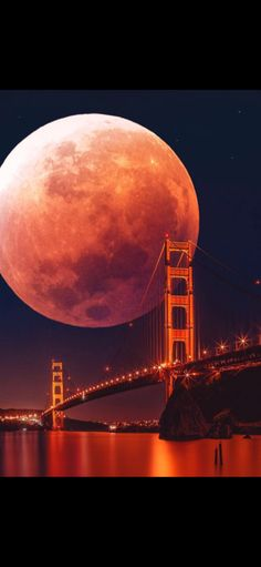 Blood Moon Art Print by TedsLittleDream - X-Small Beautiful Nature Wallpaper, Beautiful Moon, Beautiful Landscapes, Beautiful Places, Moon Images, Moon Photos, Moon Pictures, Shoot The Moon, Moon Photography