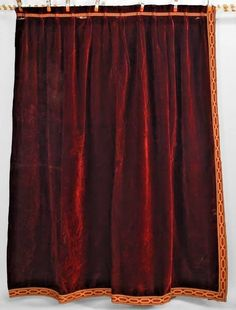Single Maroon Velvet Drape Drapes Linens And More Curtains Blinds Draping