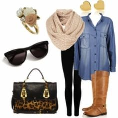 Perfect fall outfit-I would change the earrings, luv the boots & handbag Look Fashion, Fashion Outfits, Womens Fashion, Fall Winter Outfits, Autumn Winter Fashion, Looks Style, Style Me, Perfect Fall Outfit, Look Chic
