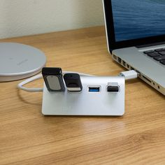Extra USB ports; designed to match macs
