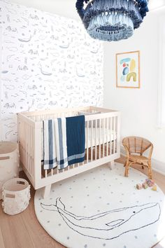 Choose from over 20 different color and print themes. Mix and match swaddles, crib sheets, bedding, change pad covers, blankets and all your nursery decor. Coastal Nursery, Ocean Themed Nursery, Sea Nursery, Whale Nursery, Nursery Neutral, Nursery Themes, Nursery Room, Nursery Ideas, Nautical Nursery Decor