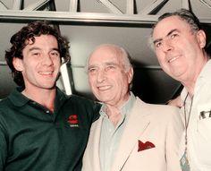Ayrton Senna, Juan Manuel Fangio & Jack Brabham