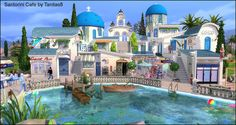 Sims 4 CC's - The Best: Santorini Cafe by Tanita