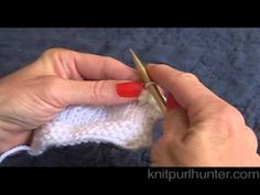 Picot Bind Off  - great video tutorial