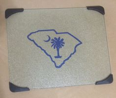 South Carolina Palmetto Glass Cutting Board by MonogramQueens15