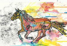 Horse Illustration by RowanLeckie on Etsy, £14.00