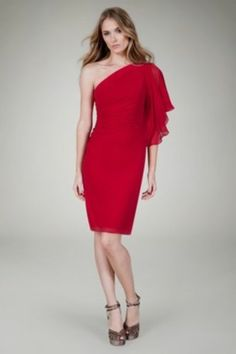 Tadashi Ruby 1 Shoulder Dress Sz 16 $308 Free SHIP | eBay