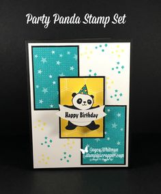You will want to check out the dancing panda card on my blog.  He is too cute!  I used the Party Panda stamp set along with the Bubbles & Fizz designer series paper from Stampin' Up! 2018 Sale-A-Bration catalog.  I also used the Duet Banner punch.
