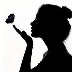 female profile silhouette