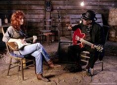 Bonnie Raitt and John Lee Hooker
