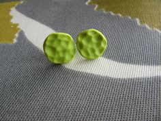 Lime Polymer Clay Earrings Studs