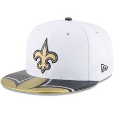 New+Orleans+Saints+59FIFTY+2017+NFL+Draft+On+Stage+Fitted+White+Hat+by+New+Era