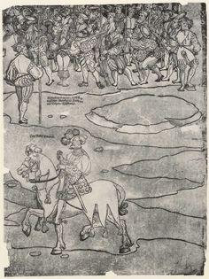 Artist: Breu, Jörg d. Ä., Title: Die Belehnung König Ferdinands mit den österreichischen Erblanden, Detail [18/23], Date: 1530