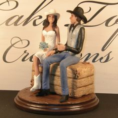western wedding cake toppers bride and groom | Country/Western Wedding Cake Topper -Couple wearing Cowboy Boots and ...