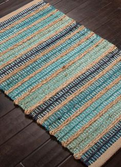 jute-accent-rug-blue-turquoise-stripes