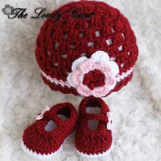 Infant Crochet Pattern Set for Baby Ribbon Maryjane by ebethalan