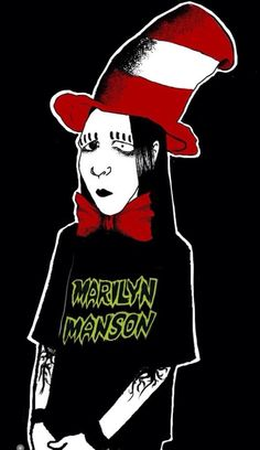 Marilyn Manson Fan Art<<< I actually find this really really cute omg