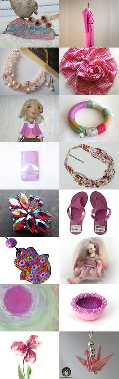 Pink Finds by Lisa Gossman-Steeves on Etsy--Pinned with TreasuryPin.com