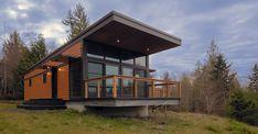 Method Homes SML Series prefab homes. Modular Cabins, Prefab Modular Homes, Modern Modular Homes, Prefab Cabins, Prefabricated Houses, Prefab Cottages, Modern Cabins, Small Modern Cabin, Modular Home Builders