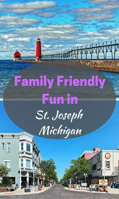 Joseph, Michigan has family-friendly appeal! Read our latest post about the best things to do and see while in town! Family Vacations US has the scoop! Lake Michigan Vacation, Saugatuck Michigan, Michigan Vacations, Michigan Travel, Texas Travel, Port Huron Michigan, Lake Michigan Beaches, Arizona Travel, Travel Usa