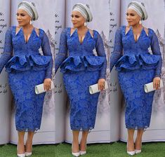afrikanische hochzeiten Check out these stunning asoebi styles. Take a good look at them and start adding some to your collections. Loads of looks to choose from. African Wear Dresses, Latest African Fashion Dresses, African Print Fashion, African Wedding Attire, African Attire, African Lace Styles, African Style, Ankara Styles, Lace Dress Styles