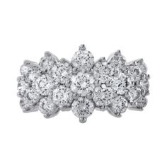 3 CT. T.W. Diamond 10K White Gold Pyramid Ring  found at @JCPenney
