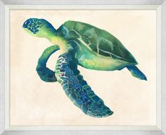 Painted Sea Turtle 1 - Coastal - Our Product