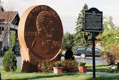 World's Largest Penny is in Woodruff Wisconsin