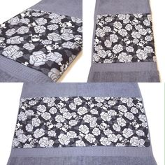 Grey Skulls & Roses Bath Towel by Pornoromantic www.pornoromantic.etsy.com #pornoromantic #etsy #grey #bathroom #towel #bathtowel #homedecor #homeaccessories #skulls #skull #roses