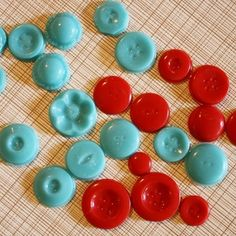 Button candy made with vintage button molds.