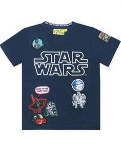 Glow In The Dark Thread Badges T-Shirt - Star Wars - Fabric Flavours Star Wars Fabric, Dark Star, Star Wars Tshirt, Boy Outfits, The Darkest, Glow, T Shirt, Shirt Shop, Stars