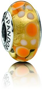 Pandora Yellow Bubbles Murano Glass Charm Code: PND-790687 $35