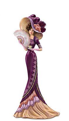 "RP: Thomas Kinkade ""An Elegant Love"" Victorian Lady Figurine - bradfordexchange.com"