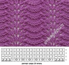 Lace knitting pattern Old Shell variation: again, pla Lace knitting pattern Old Shell variation: again, pla strickmuster Lace Knitting Stitches, Lace Knitting Patterns, Knitting Charts, Lace Patterns, Baby Knitting, Stitch Patterns, Le Point, Knit Crochet, Japanese Waves