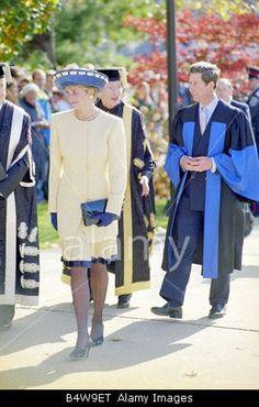 October 28, 1991: Prince Charles & Princess Diana at Queens University in Kingston, Ontario, Canada.