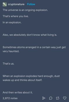 Top Tumblr Posts We Came Across This Week Pretty Words, Beautiful Words, Mbti, Writing Prompts, Writing Tips, Funny Sites, Science, Text Posts, Tumblr Posts