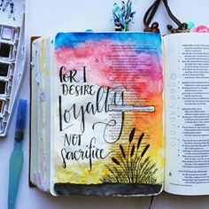 Hosea This is my first year observing Lent. Honestly, I didn't have much of an idea what Lent was . Bible Study Tools, Bible Study Journal, Art Journaling, Journal Art, Bible Verse Art, Faith Bible, Illustrated Faith, Jesus Saves, Hand Lettering