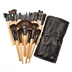 Hot 3 Color Makeup Brushes Professional Cosmetic Set With PU Case 32 Pcs Make Up Brushes Eyeshadow Blending Synthetic Hair Brush