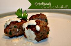 Ketzitzot Israeli Meatballs - Substitute almond flour or other legal flour for bread crumbs