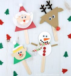quick and easy Christmas activities for kids. Simple Christmas arts and crafts ideas for kids of all ages. DIY Christmas decorations and handmade Christmas gifts ideas for kids. Christmas Crafts For Kids To Make, Spring Crafts For Kids, Preschool Christmas, Handmade Christmas Gifts, Christmas Activities, Simple Christmas, Kids Christmas, Handmade Gifts, Puppet Crafts
