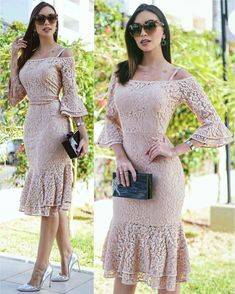 champagne lace prom dress sold by magbridal. Dress Brokat, Bridesmaid Dresses, Prom Dresses, Korean Dress, African Dress, Formal Gowns, Elegant Dresses, African Fashion, Lace Dress