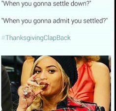 Thanksgiving Clapback