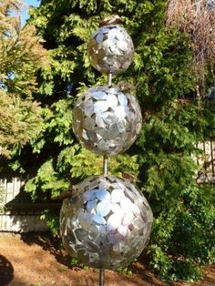 Stainless steel Topiary sculpture made by Michelle Clarke, NZ.