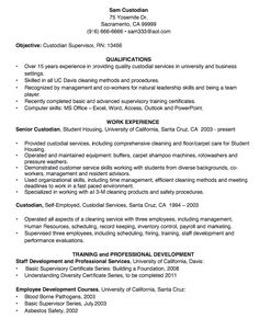 custodian resume sample httpexampleresumecvorgcustodian resume