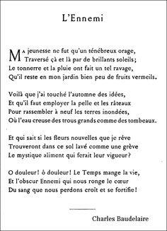 Charles Baudelaire - L'Ennemi | À la française … 2
