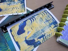 Gelli® Print Planner Pages are the perfect use for your Gelli® prints!